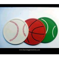 Quality OEM advertising logo print silicone pvc cup coaster for promotional gift for sale