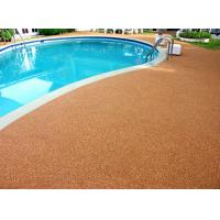 Quality Shock Proof Pool Rubber Flooring , Abrasive Resistant Swimming Pool Flooring Materials for sale