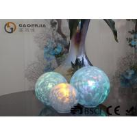 Set Of 3 Glass Ball Lights Surface With Ice Like Finish OEM / ODM Available