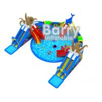 Giant Octopus Water Amusement Park , Portable Blow Up Water Park With Floating Toys for sale