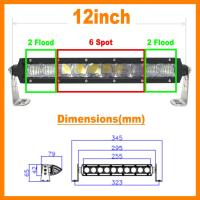 "Quality 13.5"" 5D 60W 5400lm Pro Optic Single Row LED Light Bar Spot Jeep 4WD BOAT ATV 40/42 for sale"