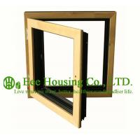 Quality Casement( Swing ) Type Wood Clad Aluminum Window with Insulating Double Glass For Villas for sale