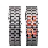 Buy cheap Iron Samurai Japanese Inspired Red LED Watch from wholesalers