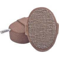 Quality Eco - Friendly Hemp Oval Bath Body Scrubber Pad No Stimulation With Elastic Belt for sale