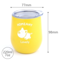 Quality BSCI 7 Oz 220ml Stainless Steel Stemless Wine Tumblers for sale