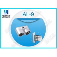 China Parallel Double Aluminum Alloy Pipe Fitting Rectangle Oxide Sandblasting Jionts AL-9 on sale