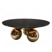 China Modern  Dining room Table Marble Top Round With ball leg China low price on sale