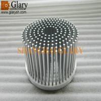 China GLR-PF-120070 120mm machined round forging heatsink, pin fin led cooling on sale