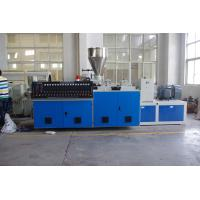 Quality High Output PVC Pipe Extrusion Machine , Pvc Pipe Production Line Double Screw 80kg / H for sale