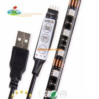 China Free shipping for USA market 5V RGB waterpoof IP65 5050 LED Strip Light with Mini Controller USB Cable by Mufue on sale