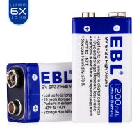 Quality Advanced Lithium Ion 9v Dry Rechargeable Cell Batteries 1200mah Long Life High Performance for sale