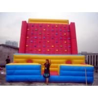 Buy Gaint Red Inflatable Rock Climbing Mountain , Inflatable Amusement Park at wholesale prices