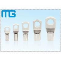 Quality High Voltage Tinned Copper Cable Lugs 36KV 18mm - 200mm Length Ring Type Lugs for sale