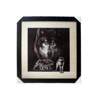 Quality Stock 5D pictures with Frame 3D Lenticular Pictures Popular Wolf Image for sale