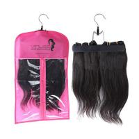Quality Custom pvc hair extensions carrier hair extension hanger bags.Size 29CM*65CM.Material is PVC and  woven for sale