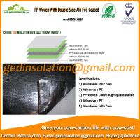 Quality PP Woven With Double Side Alu Foil Coated as radiant barrier for sale