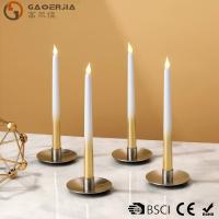 Quality Battery - powered Flameless LED Taper Candles With silver painted for sale