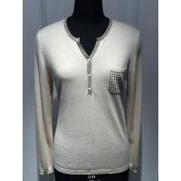 Quality Computer plant knitted Long Sleeve Ladies Pullover Sweaters With Pockets and Lurex for sale