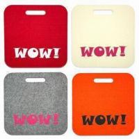 Quality Screen-printed 5mm Felt Mats, Used as Stadium Seat Cushion for sale