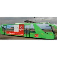 Quality Large Capacity 200 Liter Fuel tank Low Floor Buses Apron Bus For Airport for sale