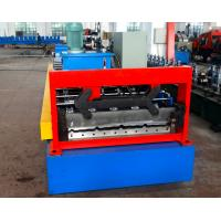 Quality Automatical Steel Roof Panel Roll Forming Machine Cr 12 Cutting Blade PLC Control for sale