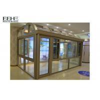 Quality Industrial All Glass Sunroom / Roller Shutter Conservatory Dining Room for sale