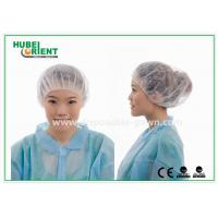 Quality 12gsm Disposable Nonwoven Bouffant Cap 21 Inch in White Red for sale