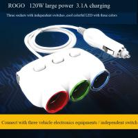 Buy hot selling car cigarette lighter socket and plug with dual usb charger at wholesale prices