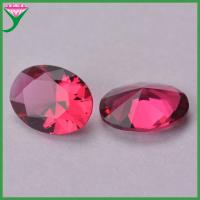 wholesale cheap prices oval rose decorative glass stones for jewelry large for sale