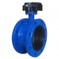 Quality ISO 5752 worm gear operated double flange butterfly valve for sale