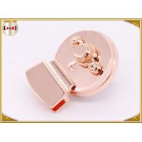 Quality Round Shape Metal Box Lock / Clasp Lock High Polishing 48mm X 37.2mm Size for sale