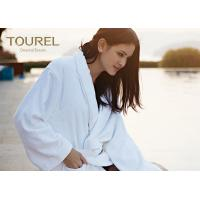 Quality Customised Terry Waffle Velour Hotel Quality Bathrobes White Blue Pink Color for sale