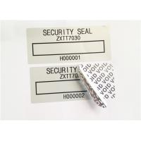 Quality Low Residue VOID Printable Security Labels With Matt / Glossy Silver for sale