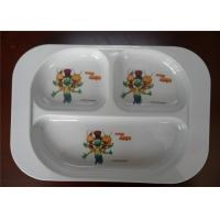 Buy cheap Professional Bulk Dinner Melamine Plastic Plates Three Holes White Color For from wholesalers