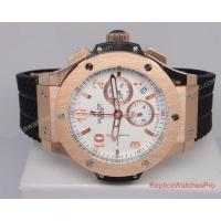 Quality Hublot Big Bang Rose Gold Watch Black Rubber Mens Buy Now Rose Gold Plated Stainless Steel watch case for sale