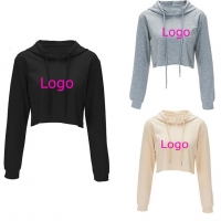 Buy cheap Crop Top Anti Pilling Oversized Off The Shoulder Sweatshirt from wholesalers
