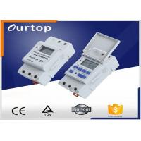 Quality White Color Programmable Digital Timer Switch , Weekly Program Timer Switch for sale