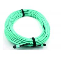 Quality MPO Fiber Optic Cable Patch Cord 50 / 125 OM3 12C for High Speed Data Center for sale