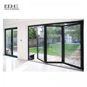 Quality Gray Aluminium Folding Sliding Doors / Aluminium Bifold French Doors 2.0mm for sale