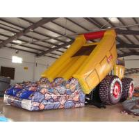 Quality Inflatable truck bouncy slide for sale