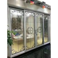 "Buy cheap patina came decorative beveled glass for Aluminum sliding door thickness 1"" from wholesalers"
