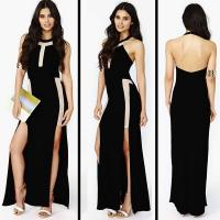 Quality Nasty Gal Ring The Alarm Maxi Dress D4087B for sale