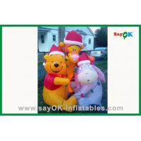 Quality Custom Yellow 210D Oxford Cloth Inflatable Bear Inflatable Cartoon Characters For Advertising for sale