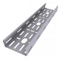 Quality Enamel Paint Ventilated Cable Tray Corrosion Resistant Smooth Edges Grey Color for sale