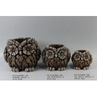 Quality Small Modern Owl Cement Plant Pots Ornament High Strength Durable for sale