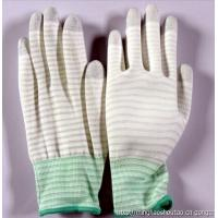 Buy stripped ESD anti static PU coated gloves for electronic factory use at wholesale prices