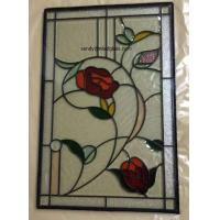 """Quality Beveled Stained Glass  Panel with patina caming  for wooden door and windows 36""""*22"""" for sale"""
