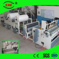 Quality Bath tissue roll two stand machine for bathroom tissue production for sale