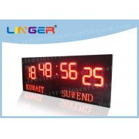 Quality Large Size Digits LED Football Scoreboard , Soccer Stadium Scoreboard Windows Software for sale