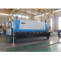 Quality Automated Guillotine Sheet Metal Cutter , Guillotine Steel Cutter With Front Support Arms for sale